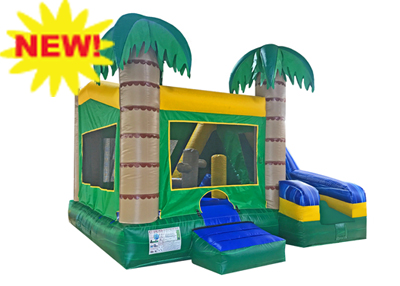 5in1 tropical inflatable combo rental