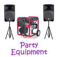 Westminister party equipment rentals