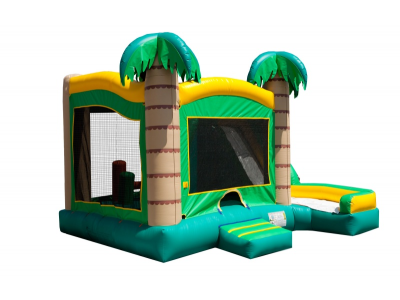 rent 5in1 inflatable combo, 5in1 tropical bouncy castle
