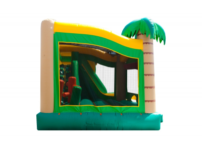 rent 5in1 inflatable combo rental, 5in1 tropical bouncy castle